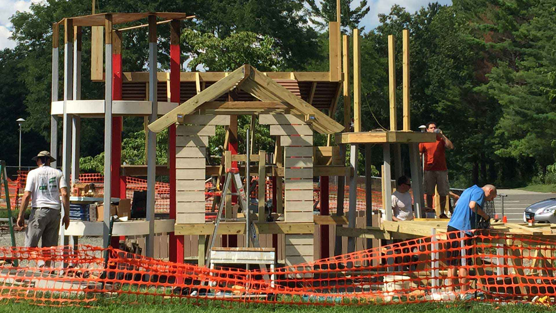 Playground being built by Spirit Builders